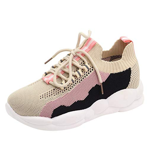JJHAEVDY Women's Knit Mesh Sneakers Running Shoes Lightweight Comfortable Athletic Walking Shoes Casual Work Tennis Shoes
