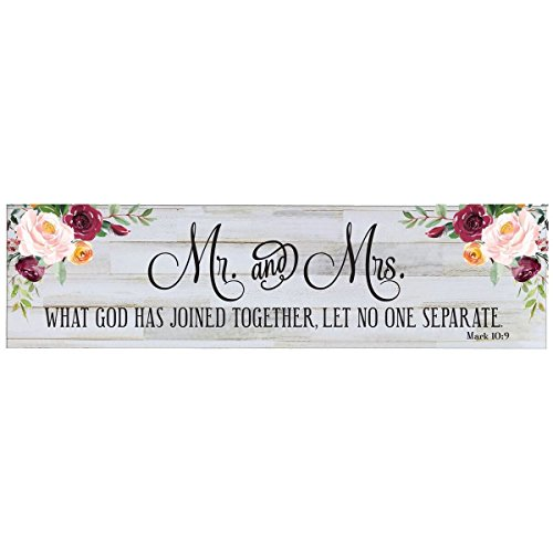 LifeSong Milestones Sign for livingroom entryway Kitchen Bedroom Wall Art Decor Print (Mr. and Mrs. 2)