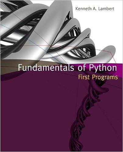 Fundamentals Of Python First Programs Ken Lambert Pdf