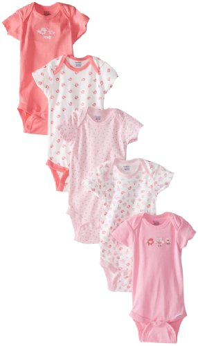 Gerber Baby Girls' 5-Pack Variety Onesies Bodysuits, Owl, 6-9 Months (Best Gift For 7 Month Old Girl)