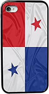 Rikki KnightTM Panama Flag Design iPhone 5 & 5s Case Cover (Black Rubber with bumper protection) for Apple iPhone 5 & 5s
