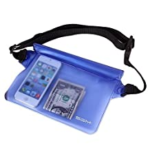 Waterproof Pouch with Waist Strap for Beach/fishing/hiking - Protects Phones, Camera, Cash, Documents From Water, Sand, Dust and Dirt