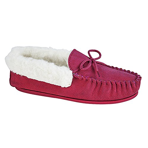 Mokkers Mocassins Femme Chaussons Rouge Emily Style rqAtwrU