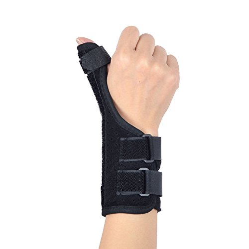 Alotm Thumb Splint Thumb Wrist Brace Adjustable Thumb Spica Splint for Pain, Sprained, Carpel Tunnel, Arthritis, Thumb Support and Guard - Left or Right Hand, One Size for Women Men by Alotm