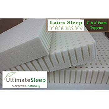"QUEEN Original Talalay Latex Mattress Pad Toppers: 2"", 3"", Many Densities (2"" Thick, 14 ILD SOFT)"