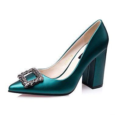 Talones de las mujeres Zapatos Primavera Verano Otoño Invierno Club de seda Oficina Boda Carreras y noche tacón de cuña del Rhinestone Gray