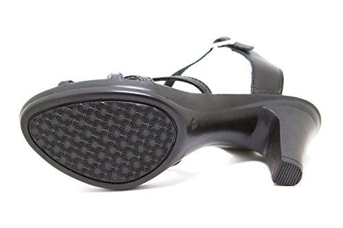 Ks Sandales D'été Femmes 163 Dames Le Chaussures Noir Pour P7qPr