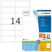 Herma 4625_ A4, 105 x 42,3 mm - Pack de 2800 etiquetas, A4, 105 x 42.3 mm, color blanco