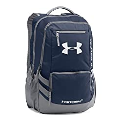 Under Armour Hustle II Backpack, Midnight Navy, One Size