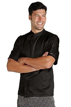 S 65/% Poliestere 35/% Cotone Manica Lunga Bianco+Blu Cina Isacco Bianco+Blu Cina Isacco Giacca cuoco Malaga