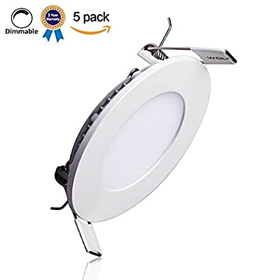 Pack of 5 Units Round Dimmable LED Panel Lights