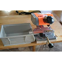 "Complete Deluxe 2"" Mini Cut-off SAW with 300 Blackout Case Cutting and Trimming Jig, Stabilizer, Collection Bin, Mounting Board and Spare Saw Blade."