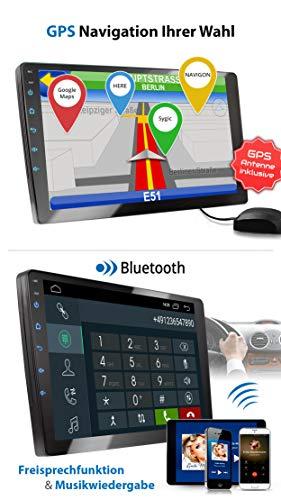 Xomax Xm 2va1001 Radio De Coche Con Android 10 I Quad Core 2gb Ram 32 Gb Rom I Gps I Soporte Wifi 3g 4g Dab Obd2 I Bluetooth I 10 Xxl Pantalla Tactil I 2x Usb Rds I 2 Din