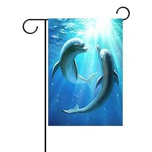 wozo océano mar verano de bandera de Jardín, diseño de delfín Inframundo agua poliéster bandera al aire libre casa fiesta