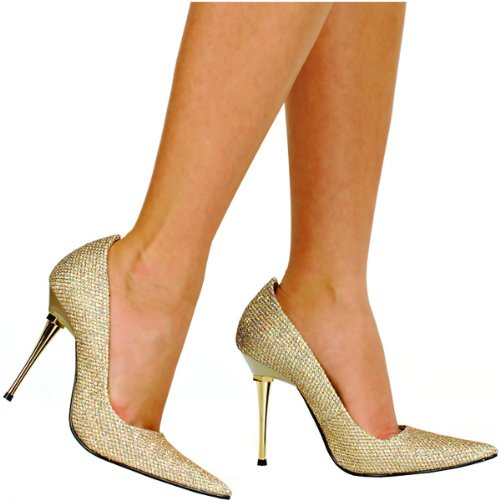 Heel m Us B Glitzee Highest Gold Women's Pump Woven Glitter 6 The 5ZUp1