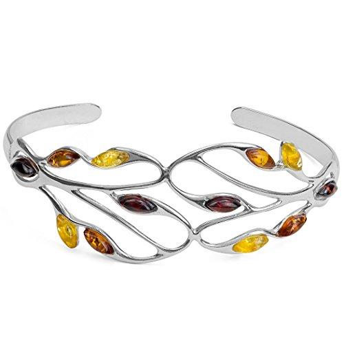 Noda Bague Ambre multicolore argent sterling Bracelet