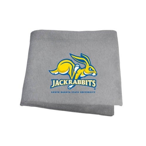 CollegeFanGear South Dakota State Grey Sweatshirt Blanket 'SDSU Jack -