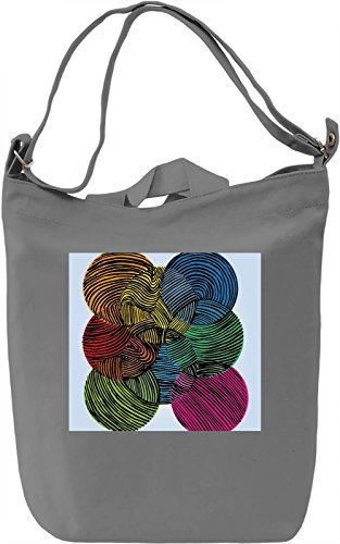 Abstract Print Borsa Giornaliera Canvas Canvas Day Bag| 100% Premium Cotton Canvas| DTG Printing|