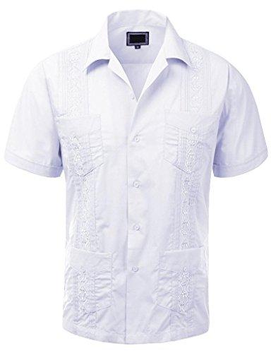 Guayabera Wedding Sleeve Button Up Casual