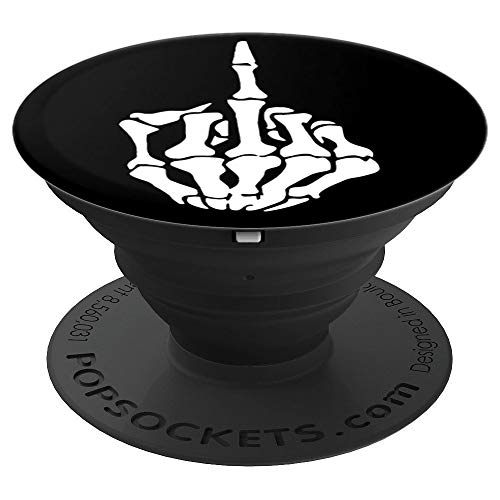 (PopSocket: Funny Skeleton Middle Finger Says Fuck you - PopSockets Grip and Stand for Phones and Tablets)