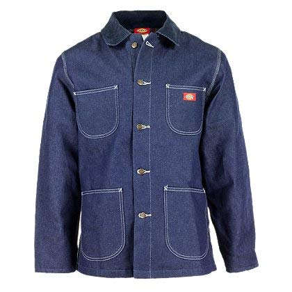Dickies Men's Big Denim Blanket Lined Chore Coat, Indigo Rigid, 3X-Large