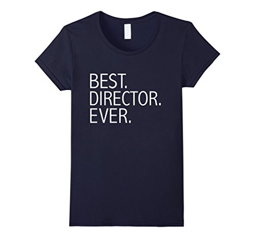 Womens Best Director Ever Funny T-shirt Film Movie Director Gift Large Navy
