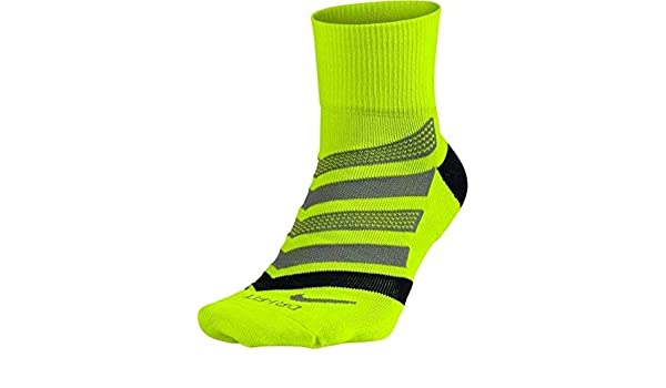 Nike Running Dri Fit Cushion D Calcetines, Hombre, Amarillo (Volt/Black/Cool Grey), M: Amazon.es: Deportes y aire libre