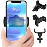 Car Phone Mount, USAMS Universal Phone Holder for Car Air Vent 360° Rotation One-Hand Operation with Adjustable Grips Compatible for iPhone XS MAX XR X 8 7 6 Plus Samsung Galaxy S9 S8 NOTE9 More-Black