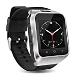 Sonmer 3G Smallest Smartwatch Phone, S8 Ultra Thin Mini Cellphone,1G RAM +16GB ROM Bluetooth4.0 WiFi,with 1.54'' HD Screen Clock Display Indepedent Call HD Camera GPS Radio Ebook Function (Silver)