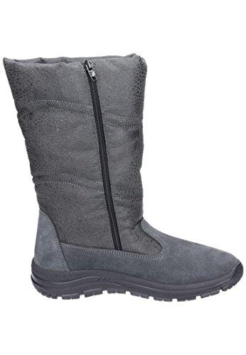 9 Manitu Polartex Damen Stiefel 990842 Schneeboots grau grau rqHZqYwx