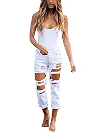 Womens Junior Trendy Crimping Ripped Ankle Length Jeans