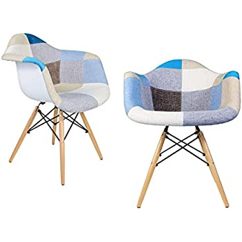 Amazon.com - 2xhome Eiffel Mid Century Modern Arm Chair with ...