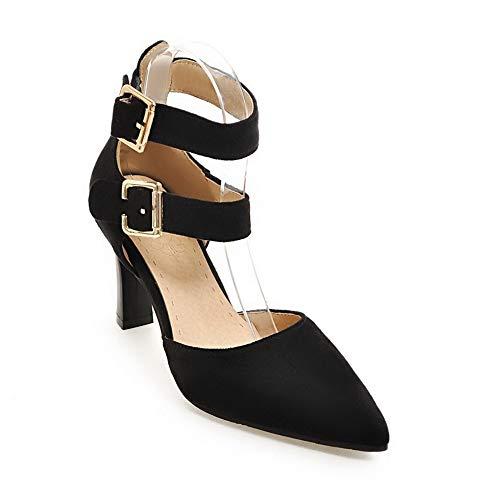 MJS03542 1TO9 Femme Sandales Noir Inconnu Compensées PZx0I5q