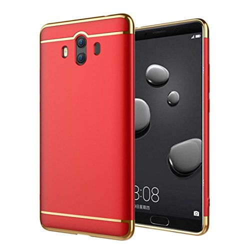 Price comparison product image Mchoice For Huawei Mate 10, Slim Ultra Thin Luxury Electroplate Back Case Cover for Huawei Mate 10 (Red)
