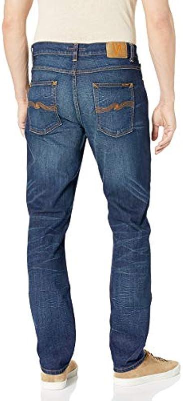 Nudie Jeans Męskie Lean Dean Old Blues Jeans: Odzież