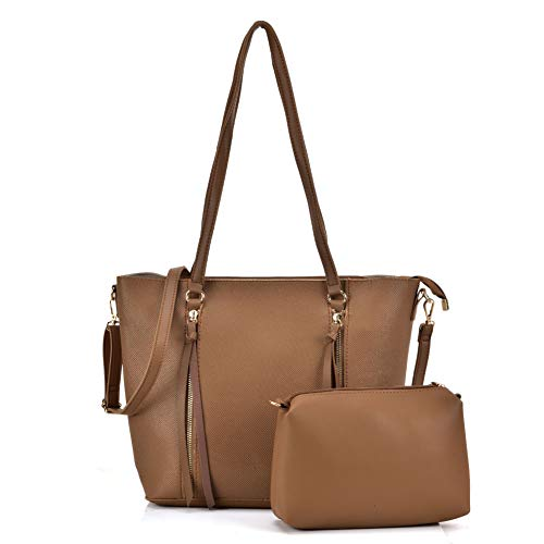 Leather Bags Ladies Beige Top Handle Young For Large Fashion Pu Women Capacity 2 Pieces Sally 5460 Satchel wqSIA4H