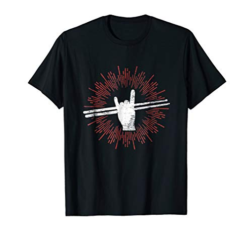 Drummer Drum Sticks T shirt Percussion Lover Rock Gifts Tee