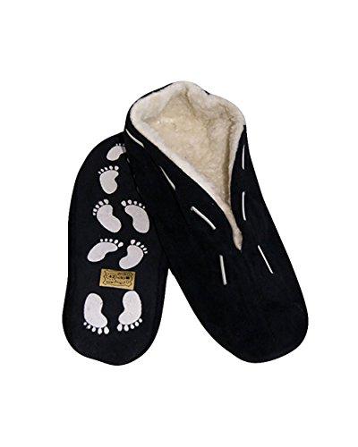 Pantuflas unisex, antideslizantes, piel, en distintos colores y números 35-52 negro