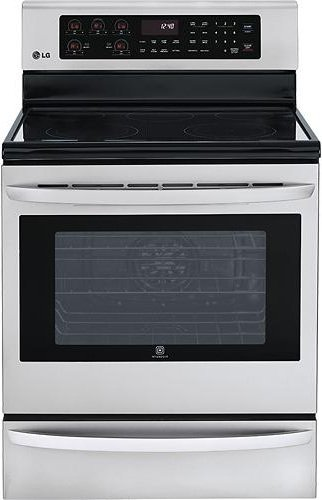 LG LRE3085ST 30' Stainless Steel Electric Smoothtop Range -...