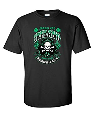 Sons Of Ireland Hooligans Motorcycle Club Irish Funny St Patrick's Day T Shirt