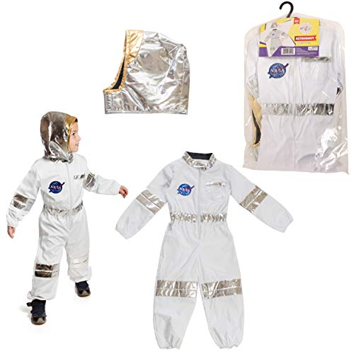 Dress to Play Astronaut Pretend Costume; 2 Pc Dress up Set with Accessories]()