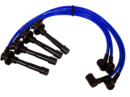 2mm High Performance Engine Premium SPARK PLUG WIRES Wire Set in BLUE for Honda Acura Integra Domani Orthia RS LS GS SE B18A1 B18A2 B18B1 B18C B18C DB7 DB8 DC2 DC3 DC4 (Ex Spark Plug)