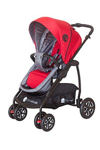 Asalvo Style - Trio silla de paseo, color rojo