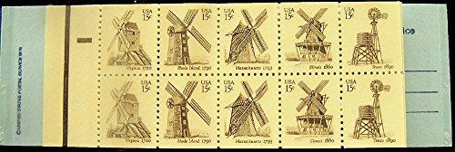 (Windmills Twenty 15 Cent Stamps Scott 1742b Booklet of Two Panes)