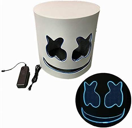 Cozywind Halloween Máscara LED para Cosplay,DJ, Fiestas ...