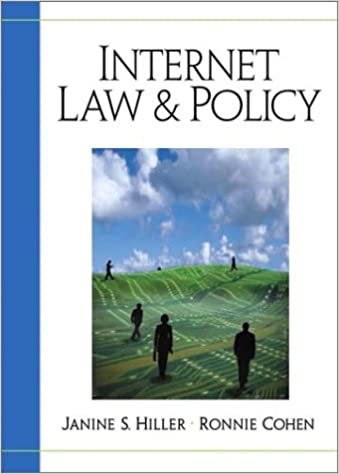 Internet law and policy janine hiller ronnie cohen internet law and policy janine hiller ronnie cohen 9780130334282 amazon books fandeluxe Gallery
