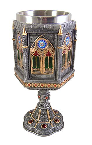 Cathedral Wall Design Drink Chalice, 7 1/2 Inch ()