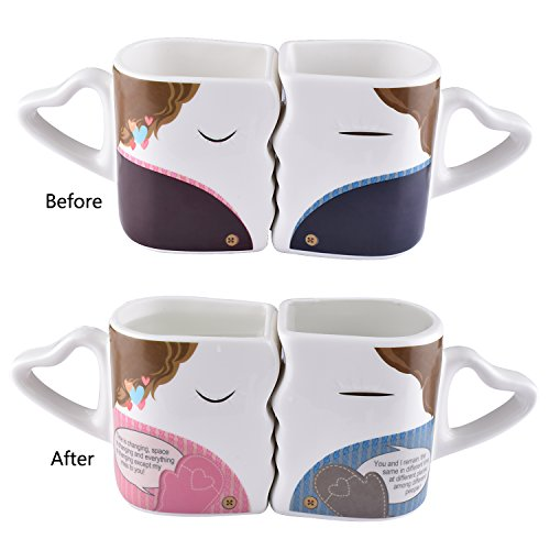 BUYNEED-Novelty-Magic-Morning-Mug-Coffee-Tea-Milk-Hot-Cold-Heat-Sensitive-Color-Changing-Morphing-Mug-CupSet-of-2