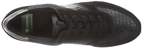 Remonte D1801, Zapatos con cordones Derby para mujer Negro - Schwarz (schwarz/schwarz/altsilber/schwarz / 02)