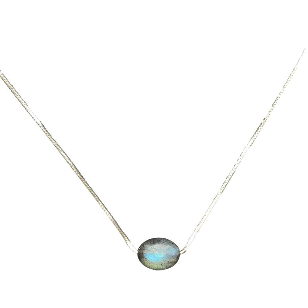 Dana Carrie Women jewelry Moonstone clavicle chain S925 sterling silver female simple short necklace jewelry neckband